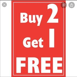 Buy two items  get one  of equal or lesser value